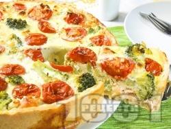 Киш с броколи, чери домати и сьомга - снимка на рецептата